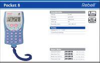 Rebell Pocket 8 vrecková kalkulačka so šnúrou