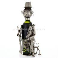 96624 Kovový stojan na víno, motív polovník