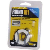 Rhino101/S0810130 vinyl.lamin. páska so štítkami 19x38mm/140 štítkov
