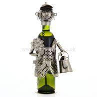 96293 Kovový stojan na víno, motív záhradník