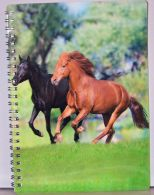 Zošit v krúžkovej väzbe s 3D obalom, kone