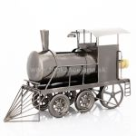 98723 Kovový stojan na víno, motív lokomotíva