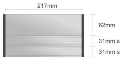 Ds112/BL nástenná tabuľa 127x124 mm design Economy