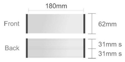 Menovka stolová profil 1 + 2x zásuvná